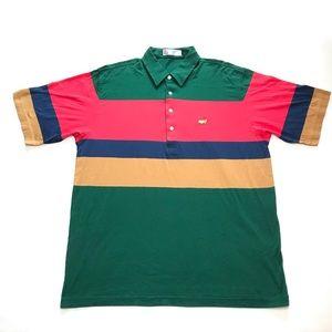 Vintage Slazenger Masters Golf Tour Polo Striped